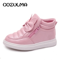 COZULMA Autumn Winter Girls Fashion Sneakers Girls Sports Shoes Children High Shoes Kids Rabbit Ear Snow