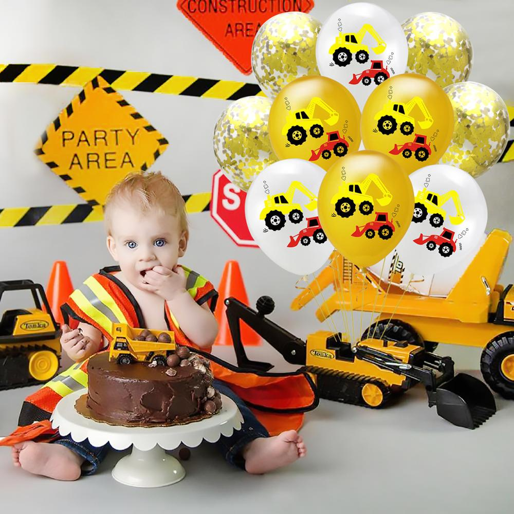Image 4 - Construction Birthday Balloons Cars Construction Party Decorations Balloon Birthday Tractor Ballon Helium Ballons Decor Birthday-in Ballons & Accessories from Home & Garden