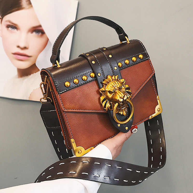 a639db20d16f Detail Feedback Questions about Luxury Famous Brand Shoulder Bags Female  Lion Head Lock Handbag Women PU Leather Messenger Crossbody Bags Fashion  Party ...