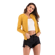 ddcec24fe7c252 Geometric Pattern Knitted One Single Button Cardigan Sweater 2018 Autumn Minimalist  Sweater Women Autumn Highstreet Sweaters