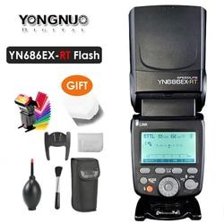 YN686EX-RT Yongnuo 2000mAh akumulator litowo-jonowy Speedlite GN60 2.4G bezprzewodowy HSS 1/8000s TTL/M/MULTI latarka YN686 do Canon DSLR