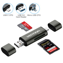 Micro SD Card Reader Adapter Type C Micro USB SD Memory Card Adapter