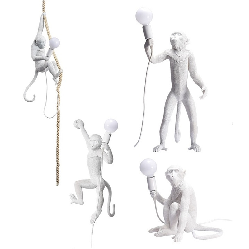 wongshi Modern Lovely Monkey Hemp Rope Ceiling Lamp For Children Home Bar Cafe Decoration With E27 LED Bulb For Freewongshi Modern Lovely Monkey Hemp Rope Ceiling Lamp For Children Home Bar Cafe Decoration With E27 LED Bulb For Free