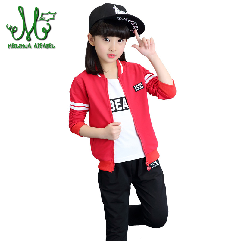 Children Clothing Sets For Boys Sports Suits Autumn Kids Tracksuits Teenage Girls Sportswear 6 8 10 12 14 Years kids clothes boy children clothing sets for girls sports suits cotton letter hoodies & shorts 2pcs kids boys outfits summer tracksuits 6 8 10year