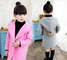 2016 Printemps et Automne Long paragraphe modèles filles manteau de laine à capuche manteau Mao Népalais manteau