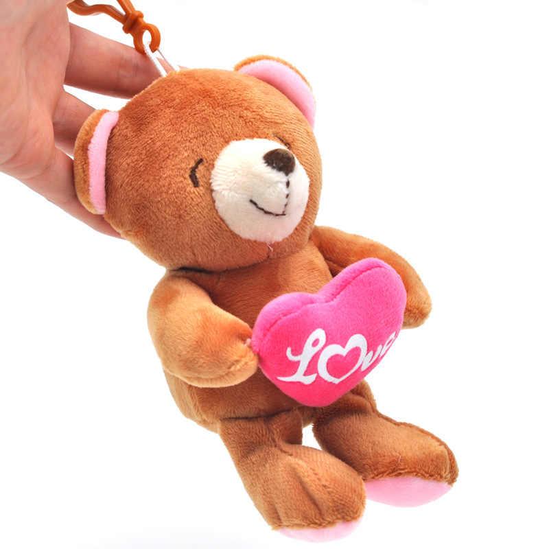 1 шт. бутик 10 см игрушка медведь кулон рекламные подарки плюшевые брелоки игрушки девушки сумка Автомобильная клипса