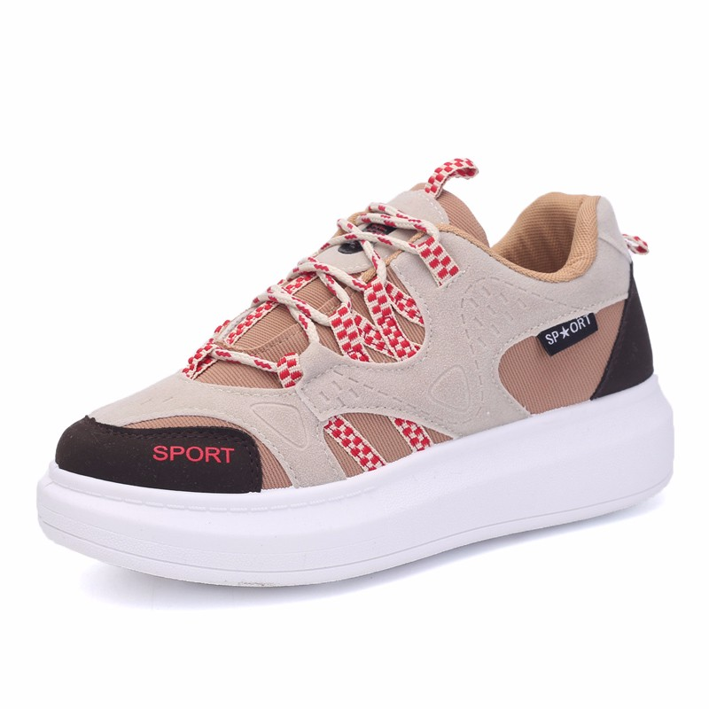 KUYUPP 2016 Autumn Fashion Women Flat Platform Shoes Sport Casual Shoes For Mens Trainers Lace Up Low Top Shoes Breathable YD111 (47)