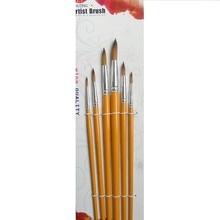 Different sizes 6pcs artist  brush pen nylon hair watercolor painting brush set drawing Pen