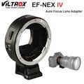 Viltrox EF-NEX IV адаптер для объектива с автофокусом для Canon EOS EF EF-S объектив для Sony E NEX полная оправа A9 AII7 A7RII A7SII A6500 A6300