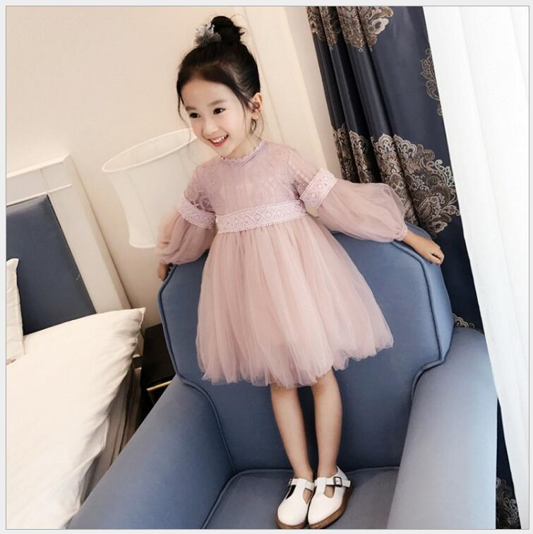 baby dress on graduation day long sleeve dresses for girls 3-12 years old puff sleeve birthday party and wedding children dress