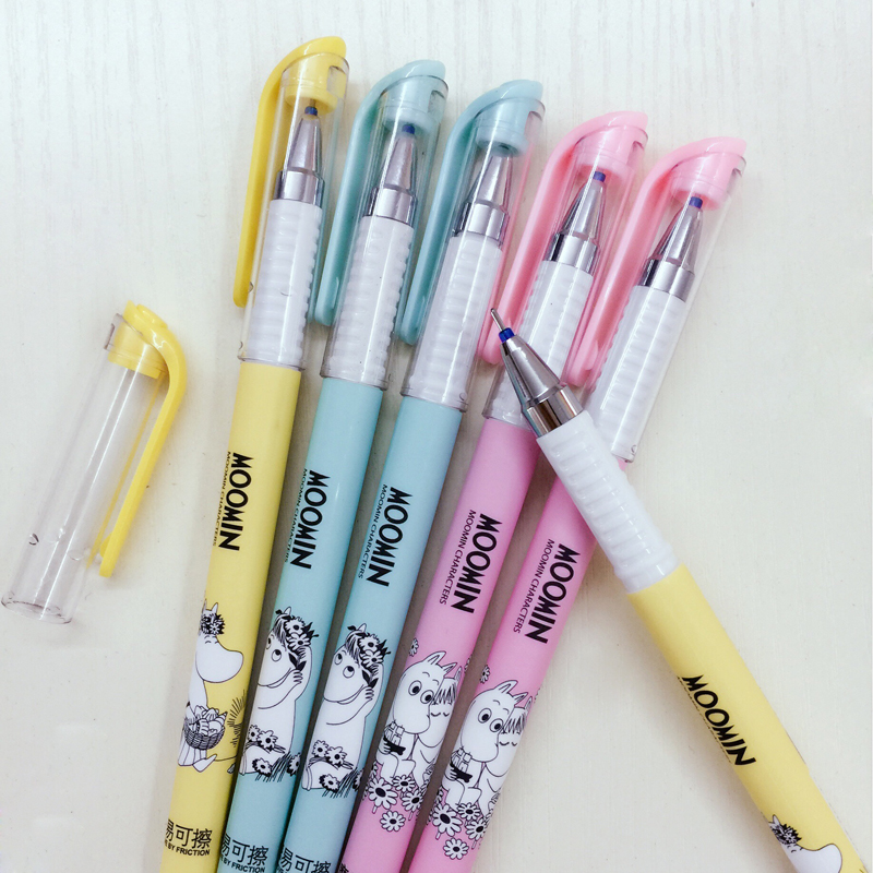 3X Kawaii Cute Hippo Cartoon Gel Pen Erasable School Office Supply Student Stationery Writing Signing Kids Gift 0.38mm