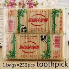 250 шт бамбуковые зубочистки s оральные деревянные зубочистки уход Бамбуковые продукты китайский стиль зубочистки s