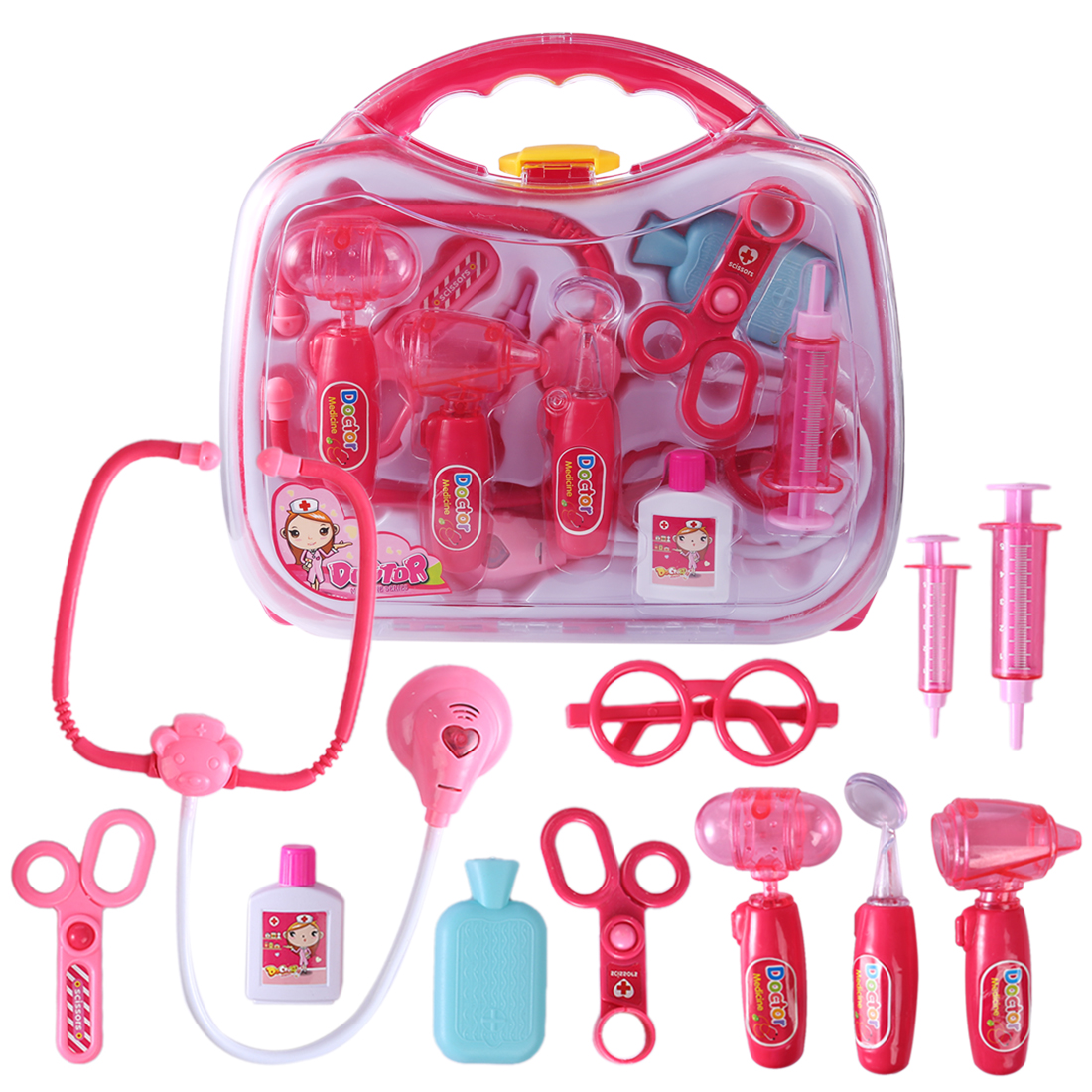 BOYS GIRLS CHILDRENS ROLE PLAY DOCTOR TOY TOOL SET IN HARD CARRY CASE WITH DRILL