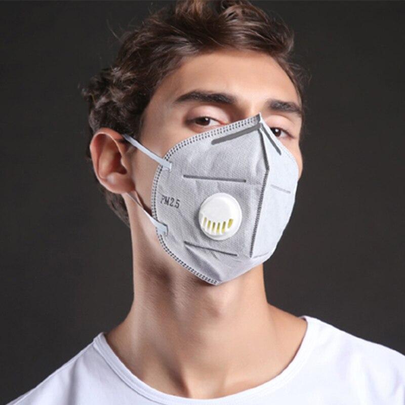 10 Pcs Usa E Getta Carbone Attivo Bocca Viso Maschera Traspirante Antipolvere Pm2.5 Jl