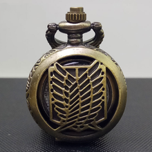 Attack on Titan Recon Corps Bronze antiques pendant pocket watch with necklace