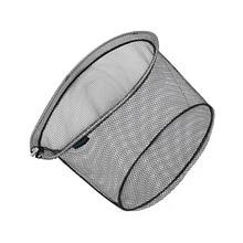 Портативная рыболовная сеть, складная прорезиненная нейлоновая сетка, отверстие 8*8 мм, глубина, алюминиевая рама, кольцо, складная рыболовная салазка, сачок