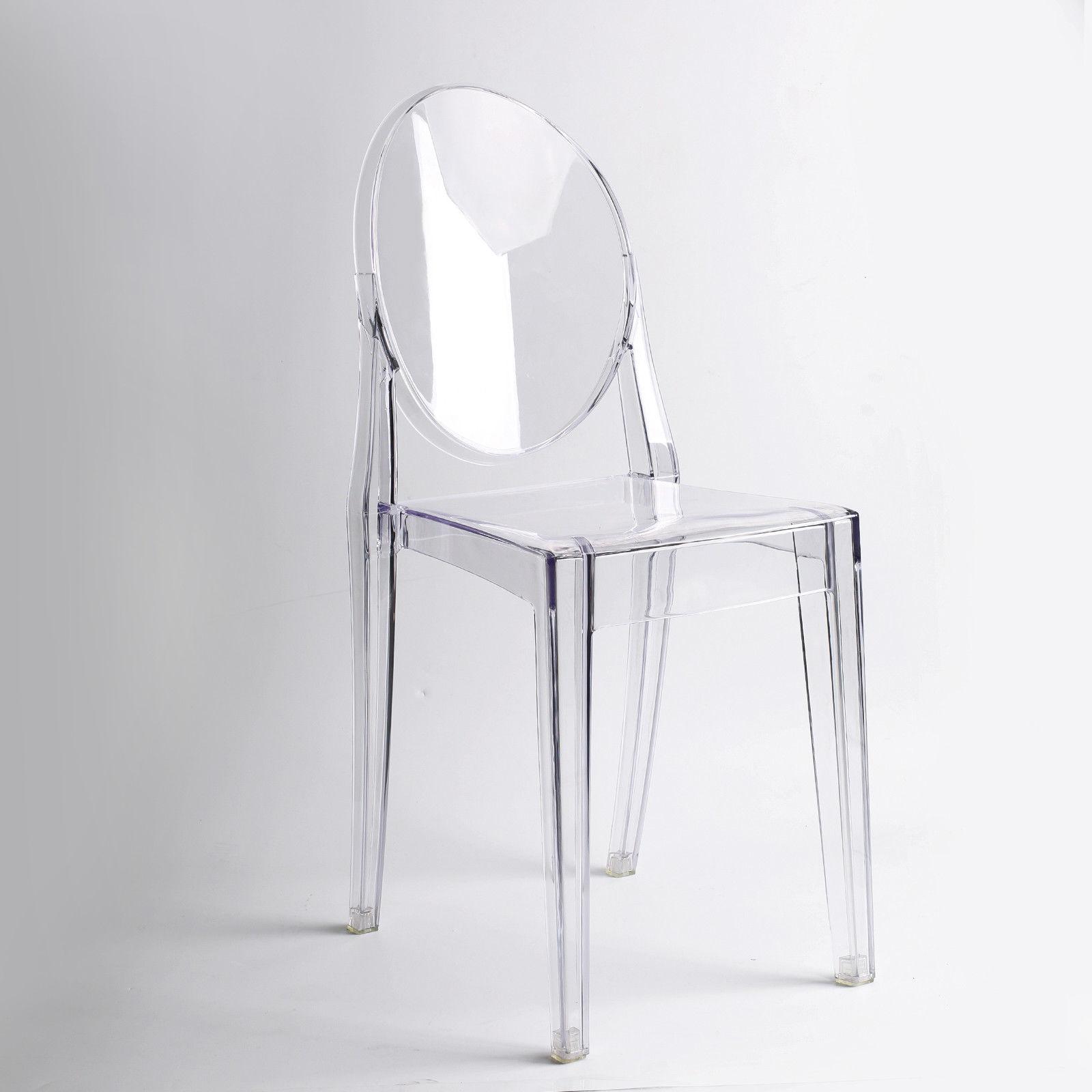 Clair fantôme TRANSPARENT moderne en plastique dinant la chaise/vanité habillant la chaise