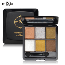 New Naked Matte Eye Shadow Palette Set 6Colors Makeup Lasting Shimmer Mixiu Brand Maquiagem Pigment Glitter Eyeshadow With Brush