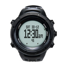 EZON H001H11 Hiking Climbing Multi-functional Outdoor Watch with Compass Altimeter Barometer Wristwatch Black