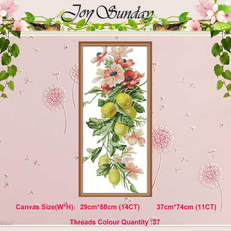 수많은 풍부한 과일 꽃 그림 counted11CT 14CT 크로스 스티치 세트 도매 DIY 크로스 스티치 키트 자수 바느질 작업
