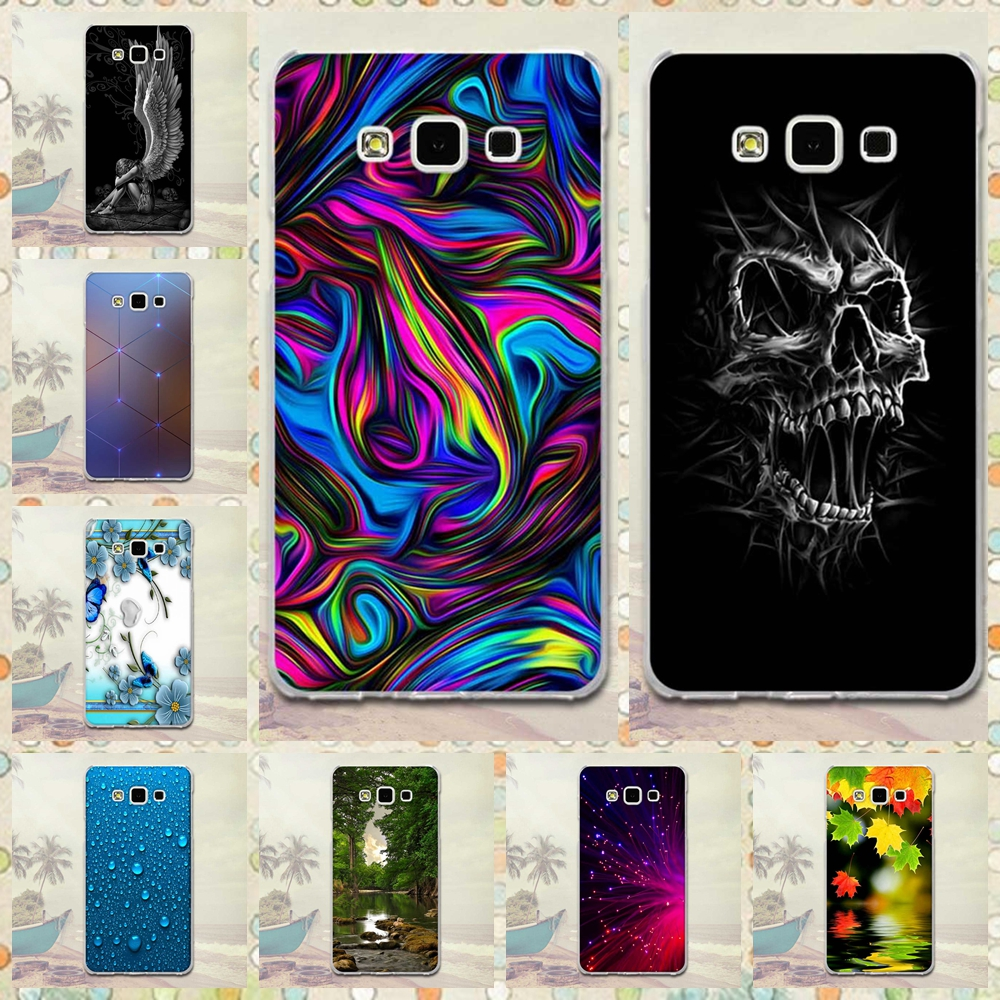 Protective <font><b>Case</b></font> For Samsung Galaxy A7 <font><b>A700</b></font> Phone Cover Luxury Printing Coque For Samsung Galaxy A700F A7 (2015) Back TPU <font><b>Case</b></font> image