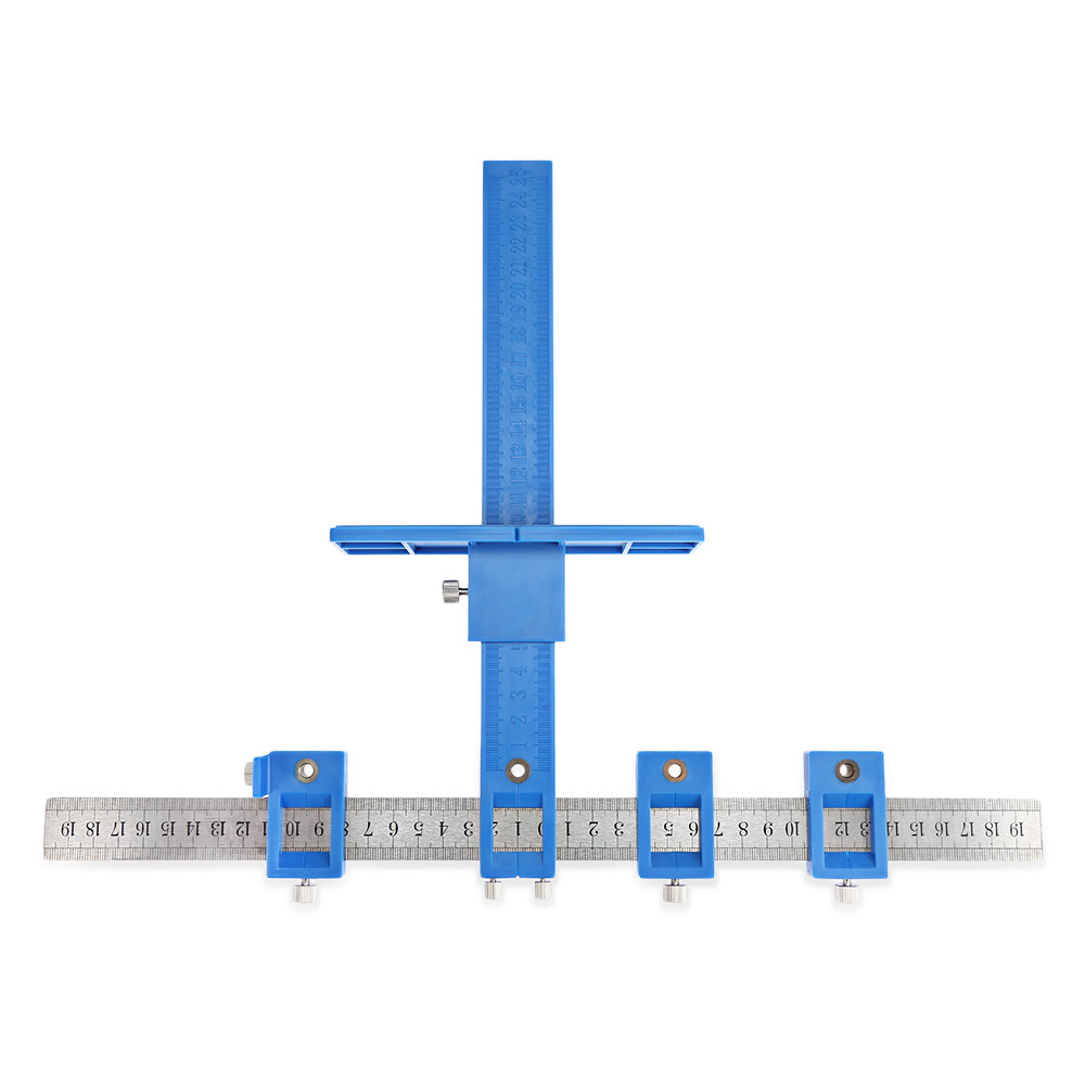 Drill Punch Locator Furniture Woodworking Drilling Locator Adjustable Auxiliary Installation Tool coordinate ruler Punch Locator store locator