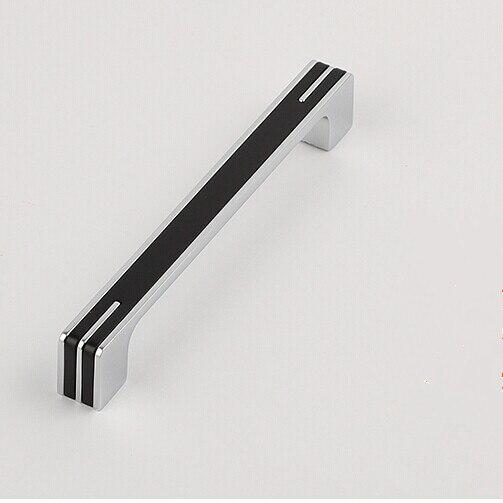 poignees de porte d armoire de cuisine en argent brillant 160mm noir chrome pour tiroir commode placard meubles modernes
