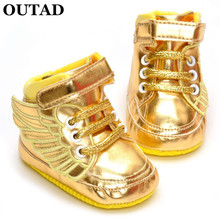 OUTAD 2017 New Baby First Walkers Shoe Infant Child Pony PU Wing Toddler Boots Boy Girl Angel Wings Casual Sneakers For Newborn