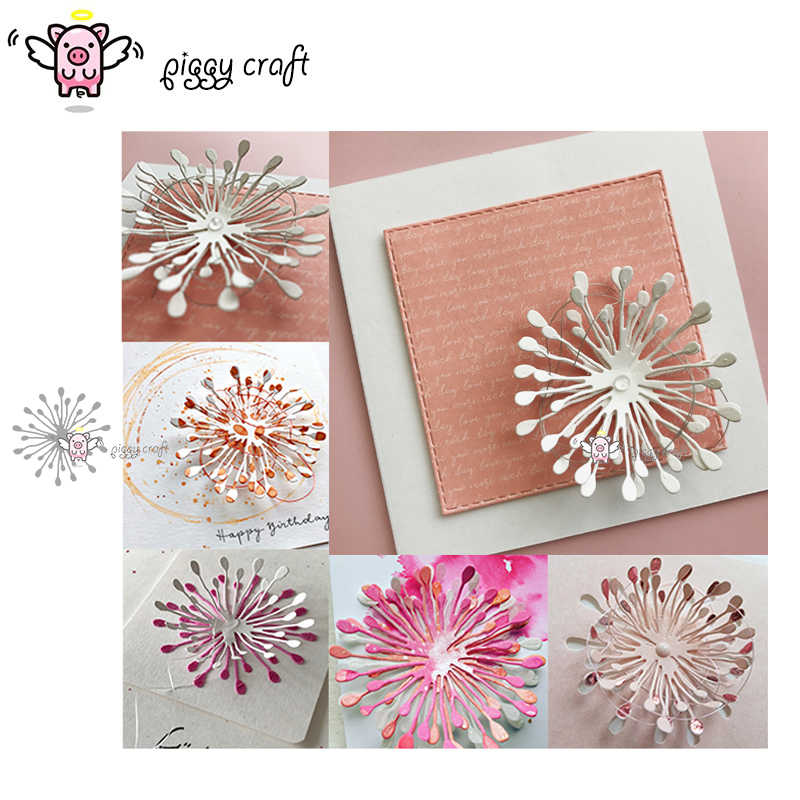 Piggy Craft metal cutting dies cut die mold Flower decoration Scrapbook paper craft knife mould blade punch stencils dies
