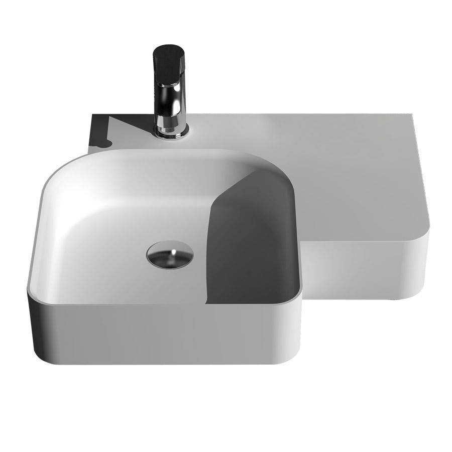 Rectangular bathroom solid surface stone counter top Vessel sink fashionable Corian washbasin RS38184