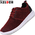 Keloch High Top Women Casual Height Increasing Shoes Breathable Female Upper Glitter Shoes