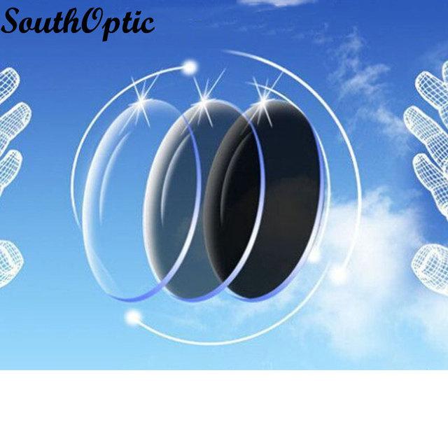 2016 monofocales Photogray Unisex 1.67 asférico ASp visión única lente gafas de sol fotosensibles con lente Cut y servicio de montaje del marco de la lente
