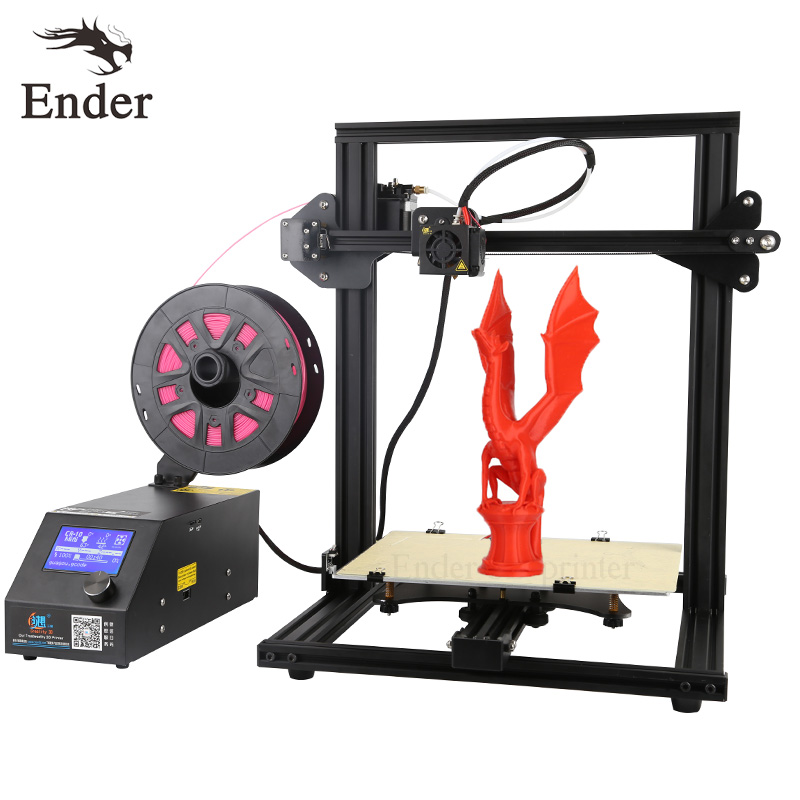 CR-10 Mini 3D printer Kit Large Print size 300*220*300mm Printer 3D and 200g Filament+Hotbed+8G SD card Creality 3D flsun 3d printer big pulley kossel 3d printer with one roll filament sd card fast shipping