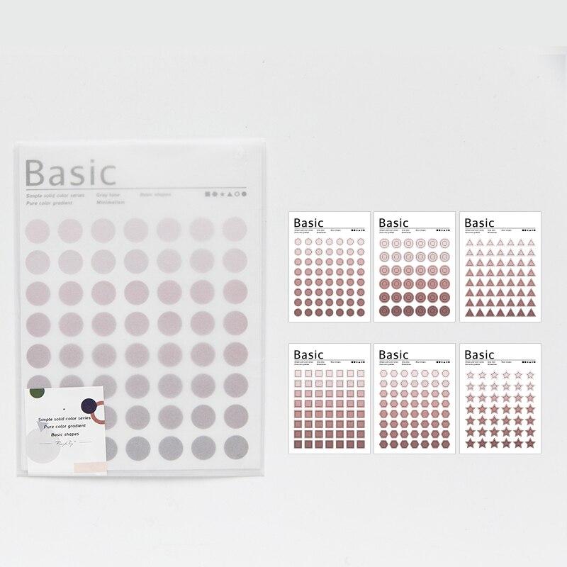 Mohamm Kawaii базовый материал Dot серия Милая наклейка на заказ s дневник стационарные хлопья скрапбук DIY декоративная наклейка s - Цвет: D