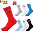High quality brand men's NO.23 Professional Men Basket socks elite thick red socks male Breathable Embroider sock