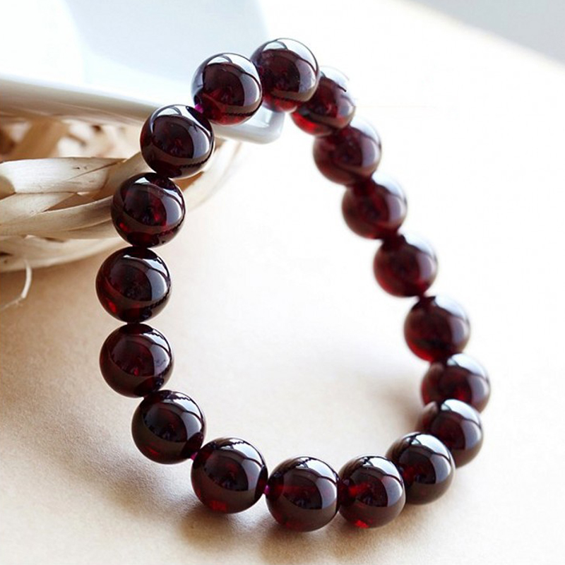 CERTIFICATE Size Plus 10mm to 11mm Beads Garnet Bracelet Men Health Care Balls Bracelets for Women Romantic Jewelry Gift