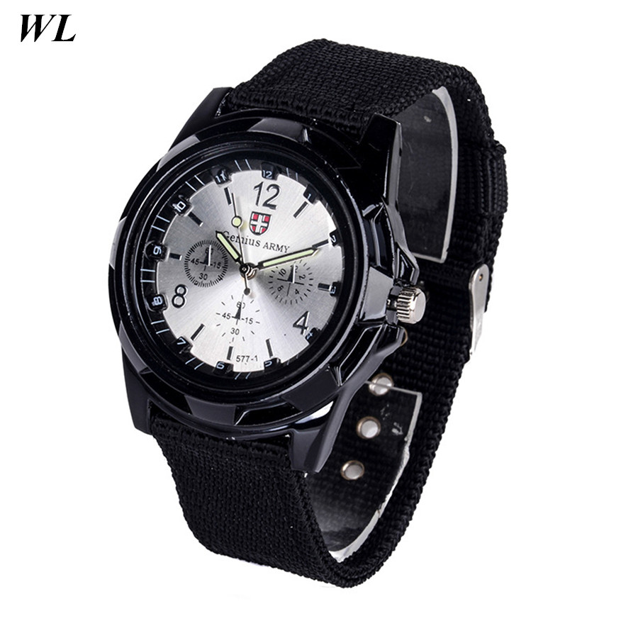 10pcs/lot Wholesale Hot Sale Fashion 5Colors Women Men Good Quality Gemius Army Sports Watch Fabric Braided Quartz Wristwatch