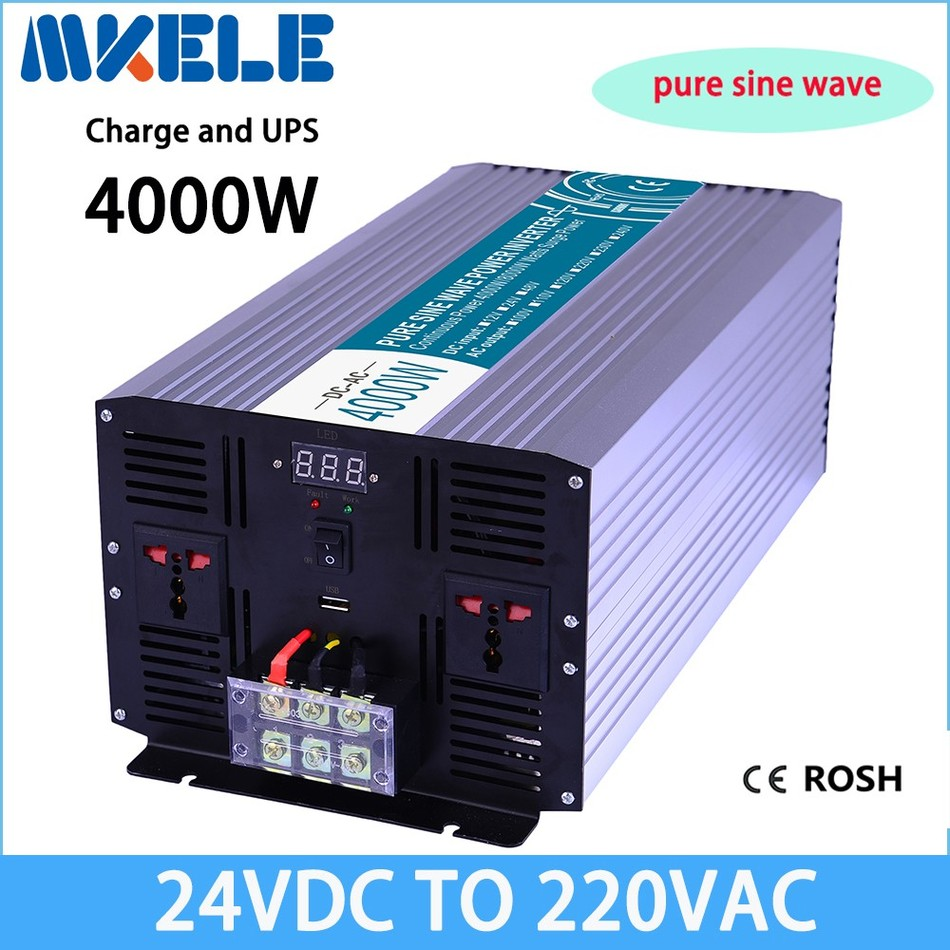 MKP4000-242-C UPS power inverter 4000w 24v 220v Pure Sine Wave off grid solar inverter voltage converter with charger and UPS