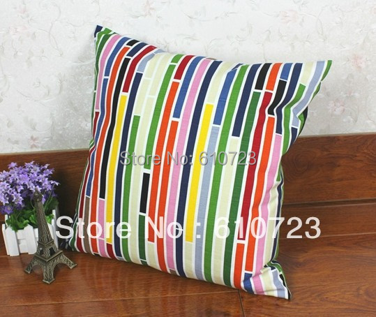 whole sales,2014 personality stripe canvas hold pillow pillow sofa cushion for leaning on creative home wholesale auto waist pad