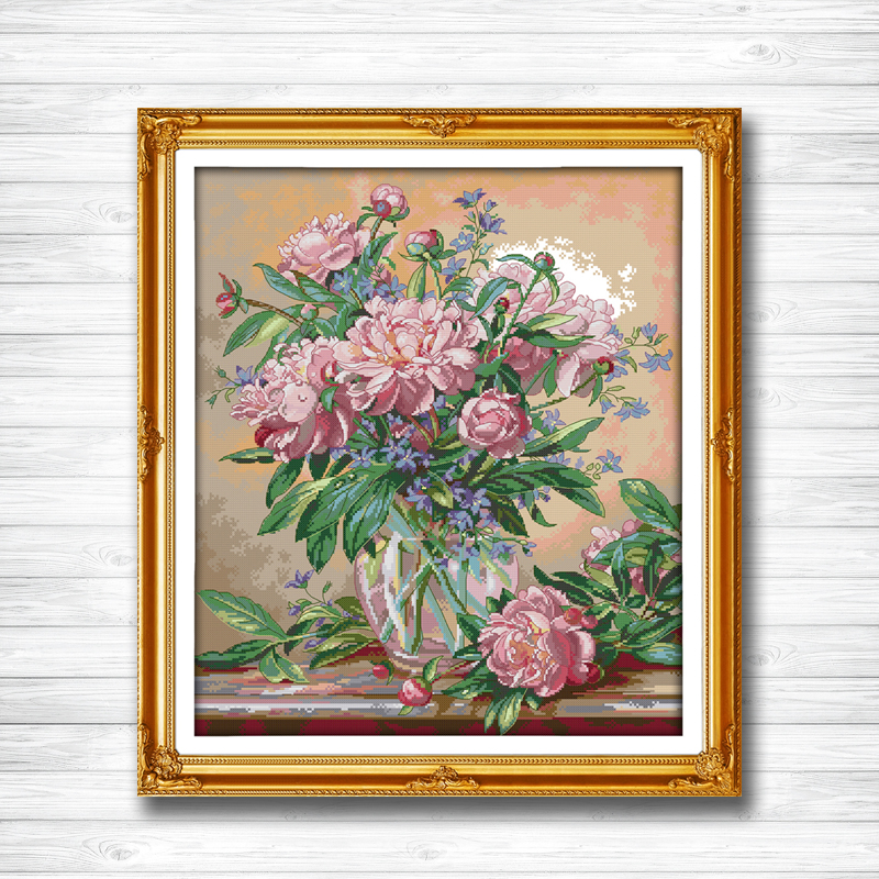 Package Trend Mark Bluebells Vase Flower Decor Painting Counted Printed On Canvas Dmc Chinese Cross Stitch Kits 11ct 14ct Needlework Set Embroidery To Be Highly Praised And Appreciated By The Consuming Public