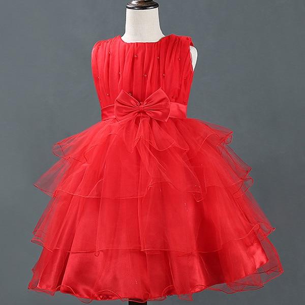 ФОТО Children Full dress Red white purple Princess girl summer dress party dress Ball Gow flower vestido de fiesta infantil menina
