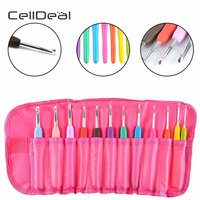 12 Pcs Professional Sewing Needles Fixed Crochet Hooks Aluminum Knitting Needles All Sizes Tools Crochet Hooks Knitting Needles
