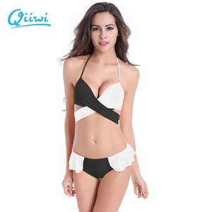 Bikini 2019 Sexy Cross styles Mid Waist Push up Swimsuit Women Brazilian Bikini Set Hot Swimsuit Biquini Tankini Bathing Suits B