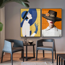 Modern Abstract Paintings Women Portrait Fashion Poster Art Print Large Figure Pictures Canvas Decorative Wall