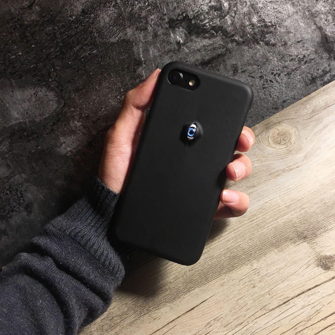 Más nueva venta caliente secret Eye teléfono caso para el iPhone 7 Plus 5.5 pulgadas cuero de alta calidad caja del teléfono del ojo para iPhone 7 más 5.5 pulgadas