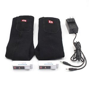 Носки с электрическим подогревом теплые носки с перезаряжаемой батареей 3,7 вольт эластичные теплые носки для здоровья для помещений и активного отдыха - Цвет: Black