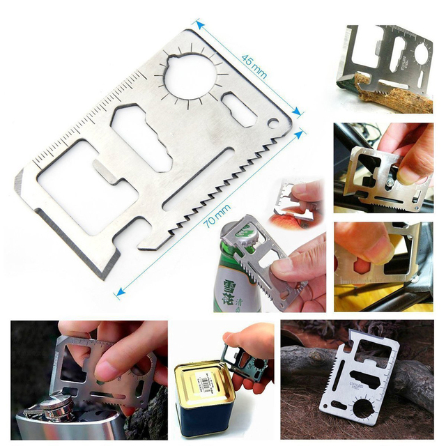 Camping 10 in 1 survival kit Outdoor tourism Multifunction First aid SOS Emergency Supplies +slingshot survival kit military 2