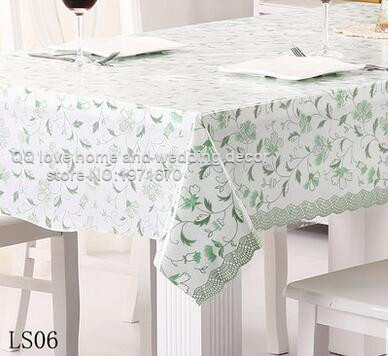 Waterproof Oil Proof Disposable Tablecloth Lace Table Cloth Plastic Pvc Soft Gl Mat In Tablecloths From Home Garden On