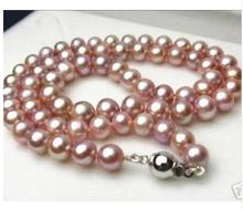 Women Gift Freshwater beads jewelry Natural 8-9mm pink freshwater culture pearl necklace 17inch недорого