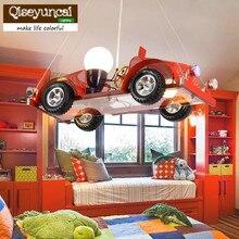 Qiseyuncai новый автомобиль детская комната люстра творческая личность магазин одежды для украшения лампа мальчик комната спальня лампы